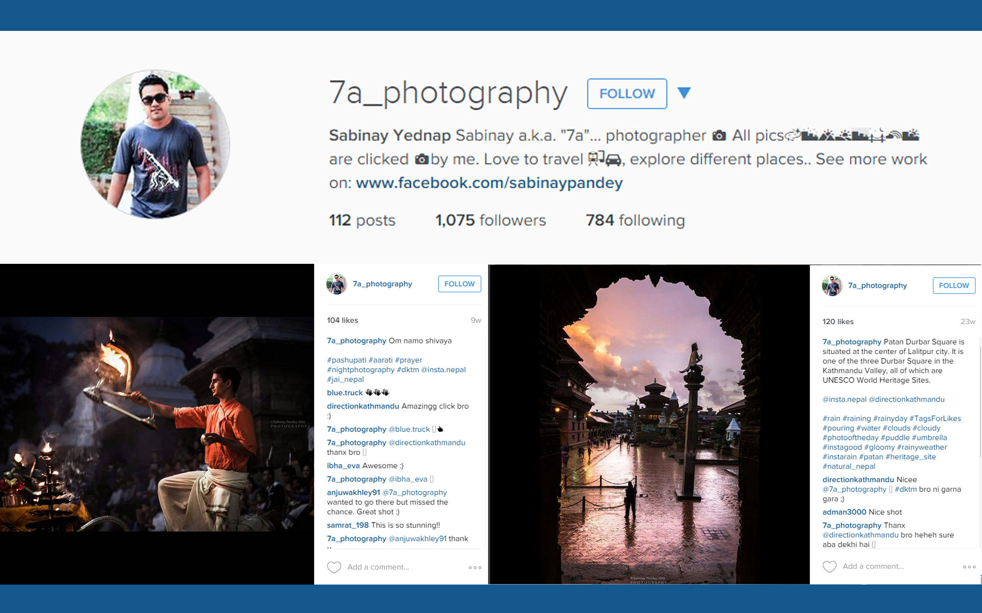 Instagram account illustration for 7A Photography