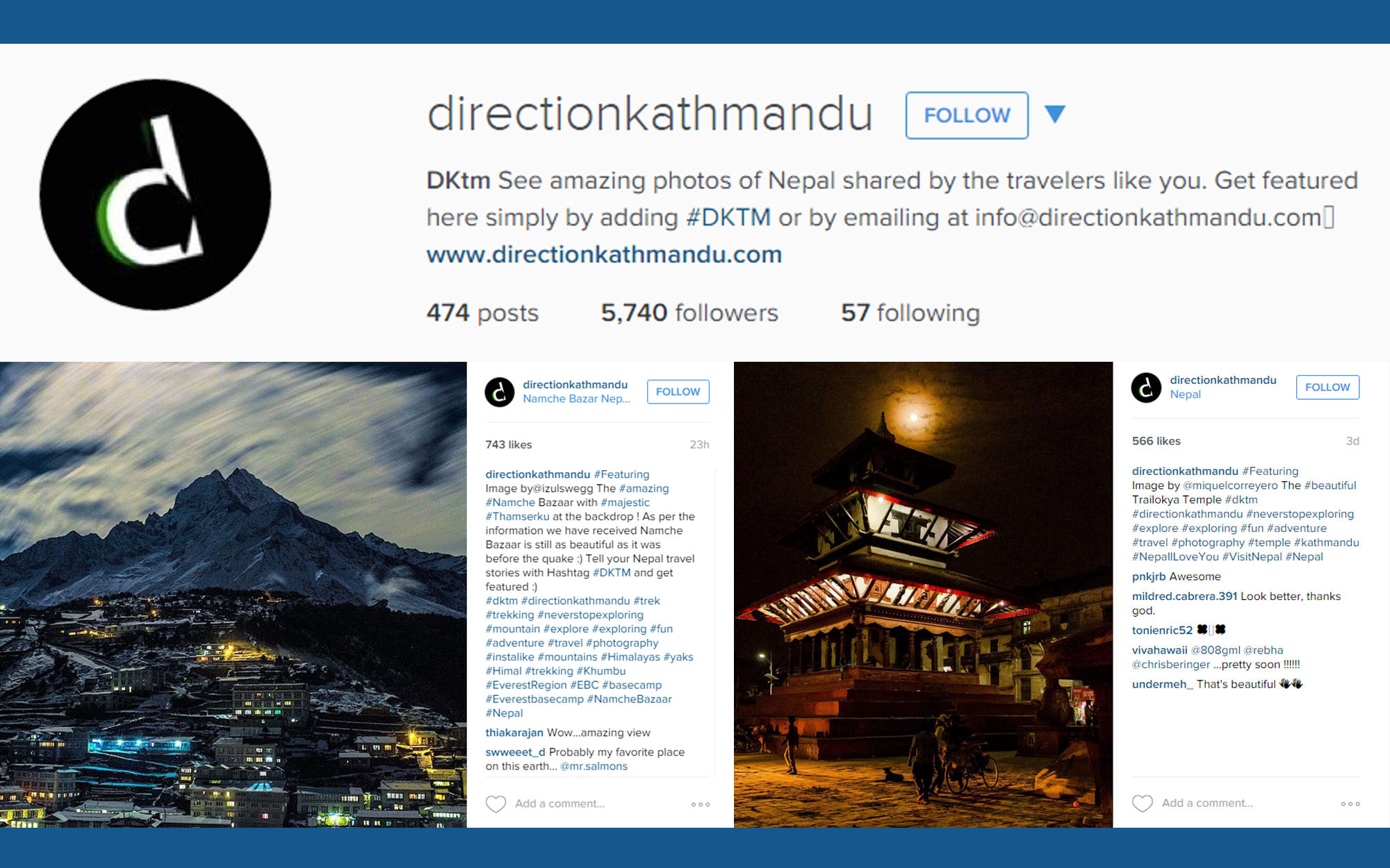 Instagram account illustration for Direction Kathmandu