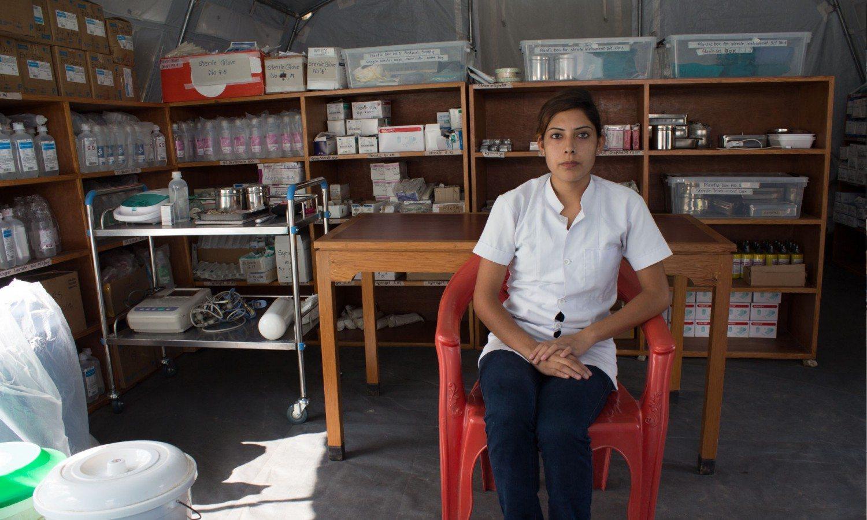 Eliza Khatri, a staff nurse in Lamosanghu