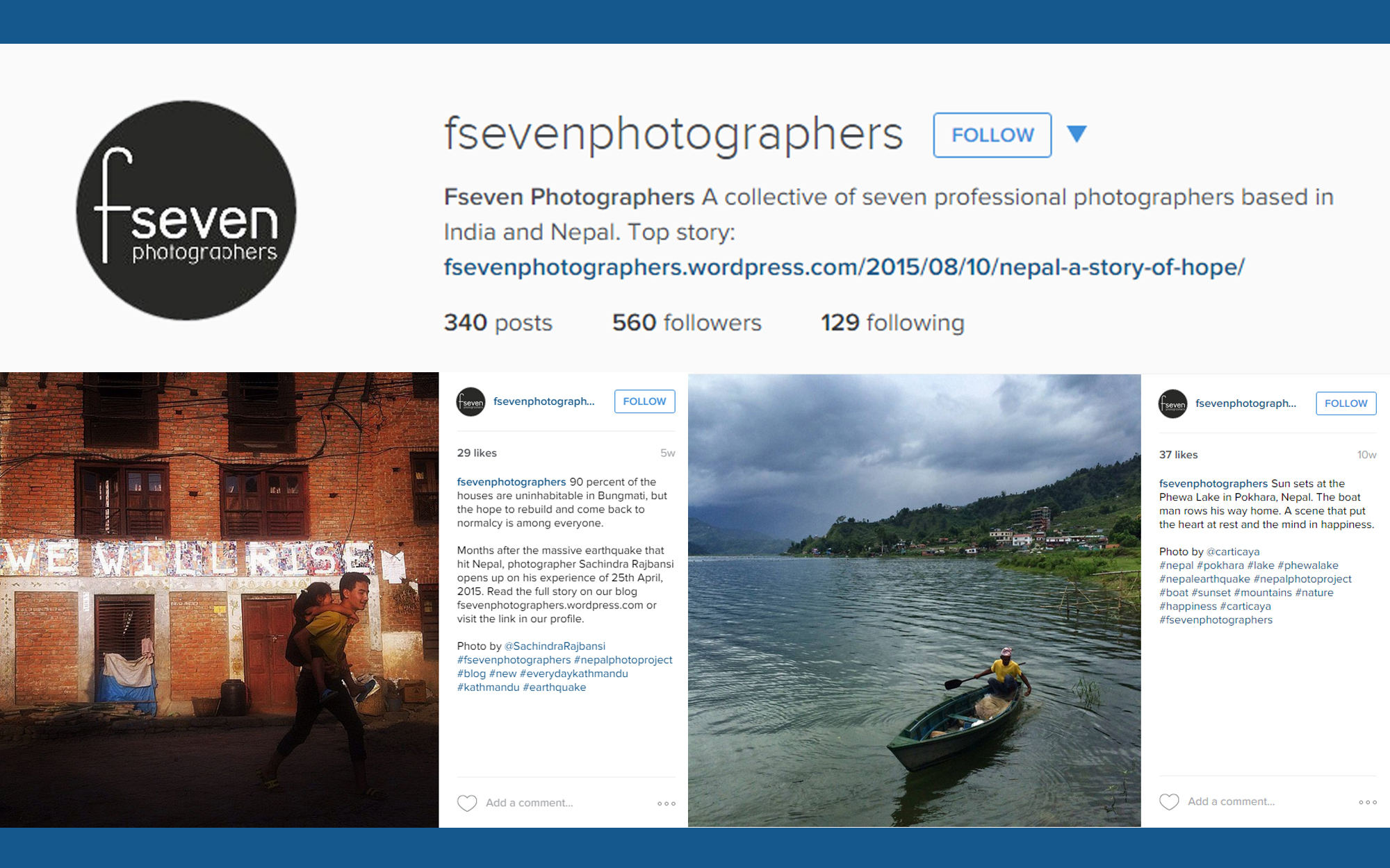 Instagram account illustration for FSeven Photographers