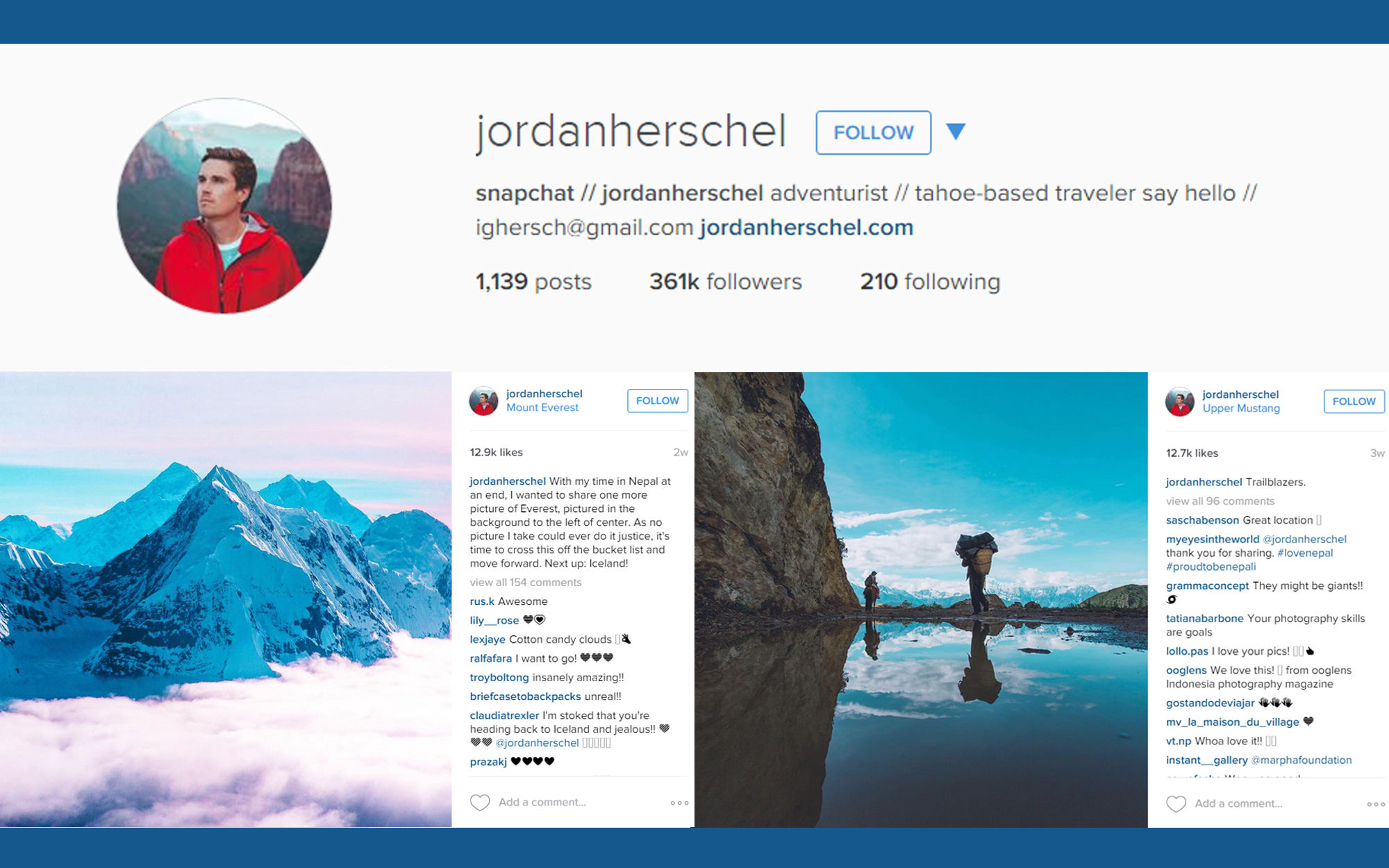 Instagram account illustration for Jordan Herschel