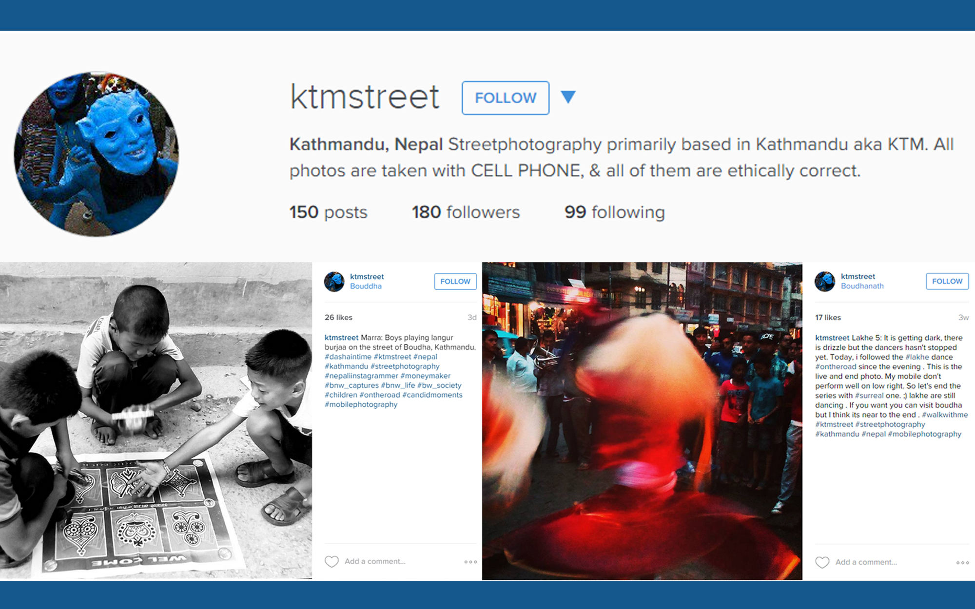 Instagram account illustration for Kathmandu Street