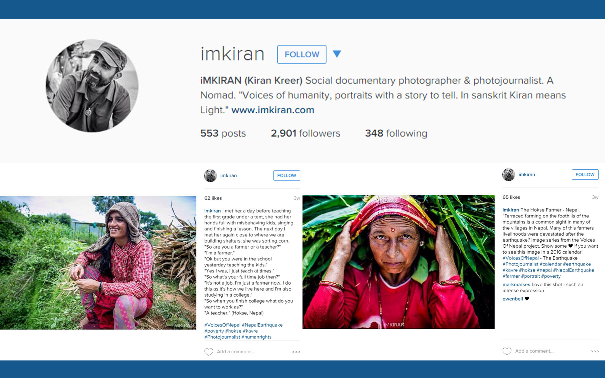 Instagram account illustration for iMKiran