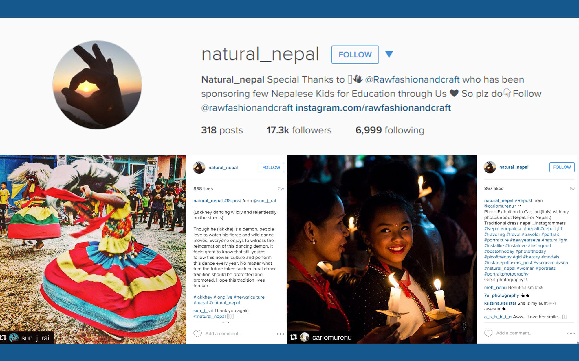 Instagram account illustration for Natural Nepal
