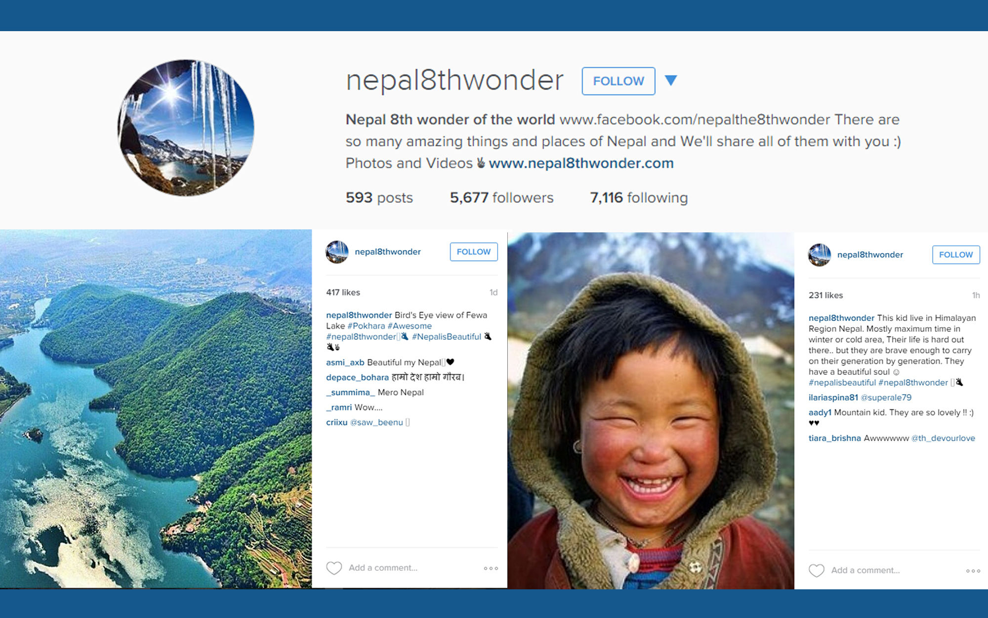 Instagram account illustration for Nepal 8th Wonder