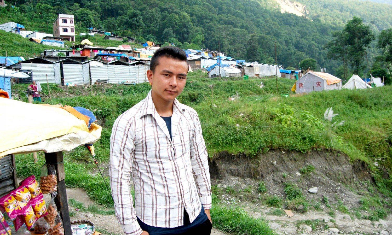 Raju Tamang in Bahrabise, Sindupalchok
