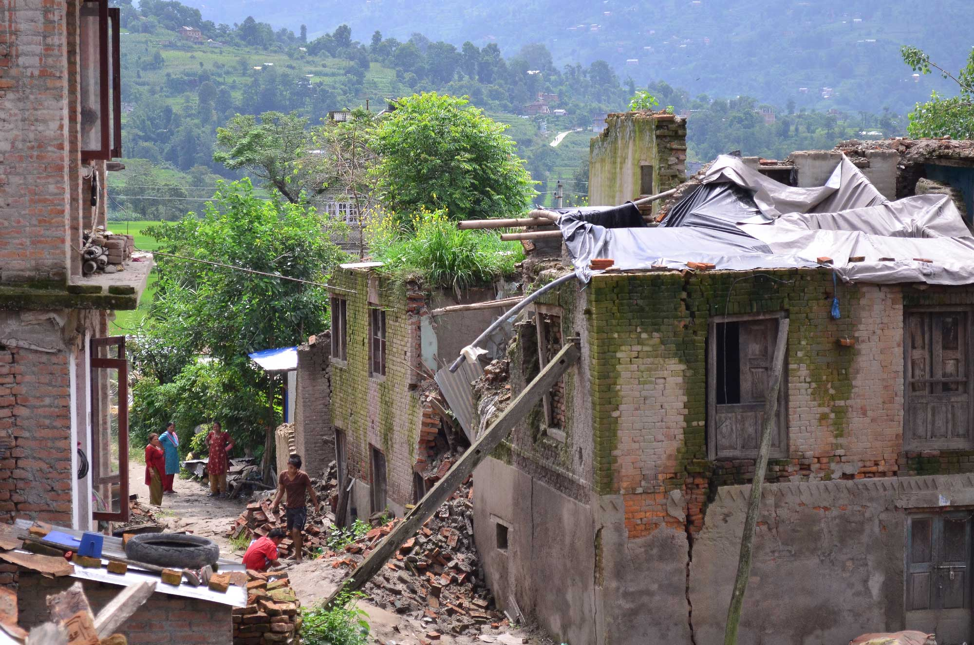 A view of Sankhu, one of the villages that suffered severe destruction in the Nepal earthquake. Photo: Pushkala Aripaka
