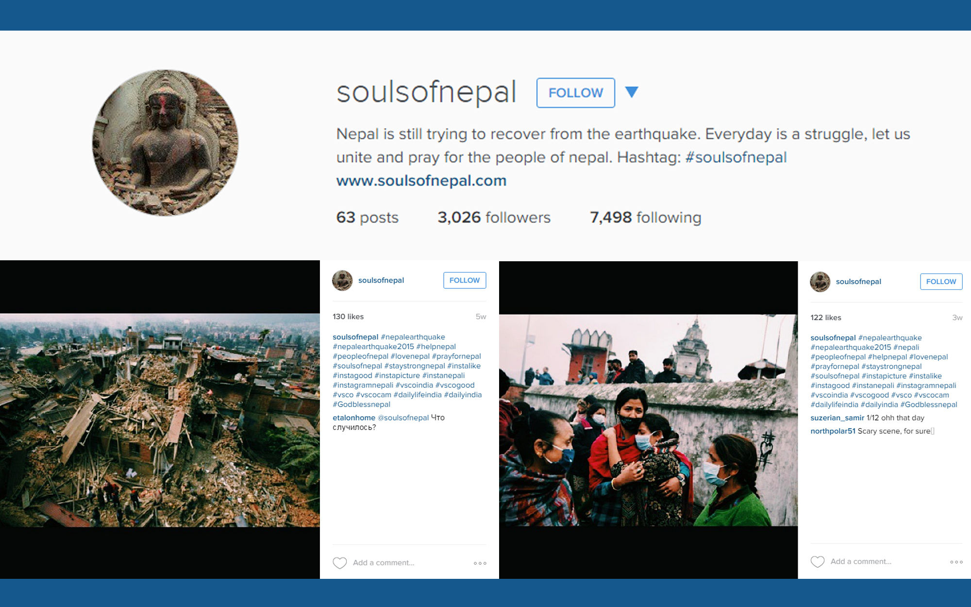 Instagram account illustration for Souls of Nepal