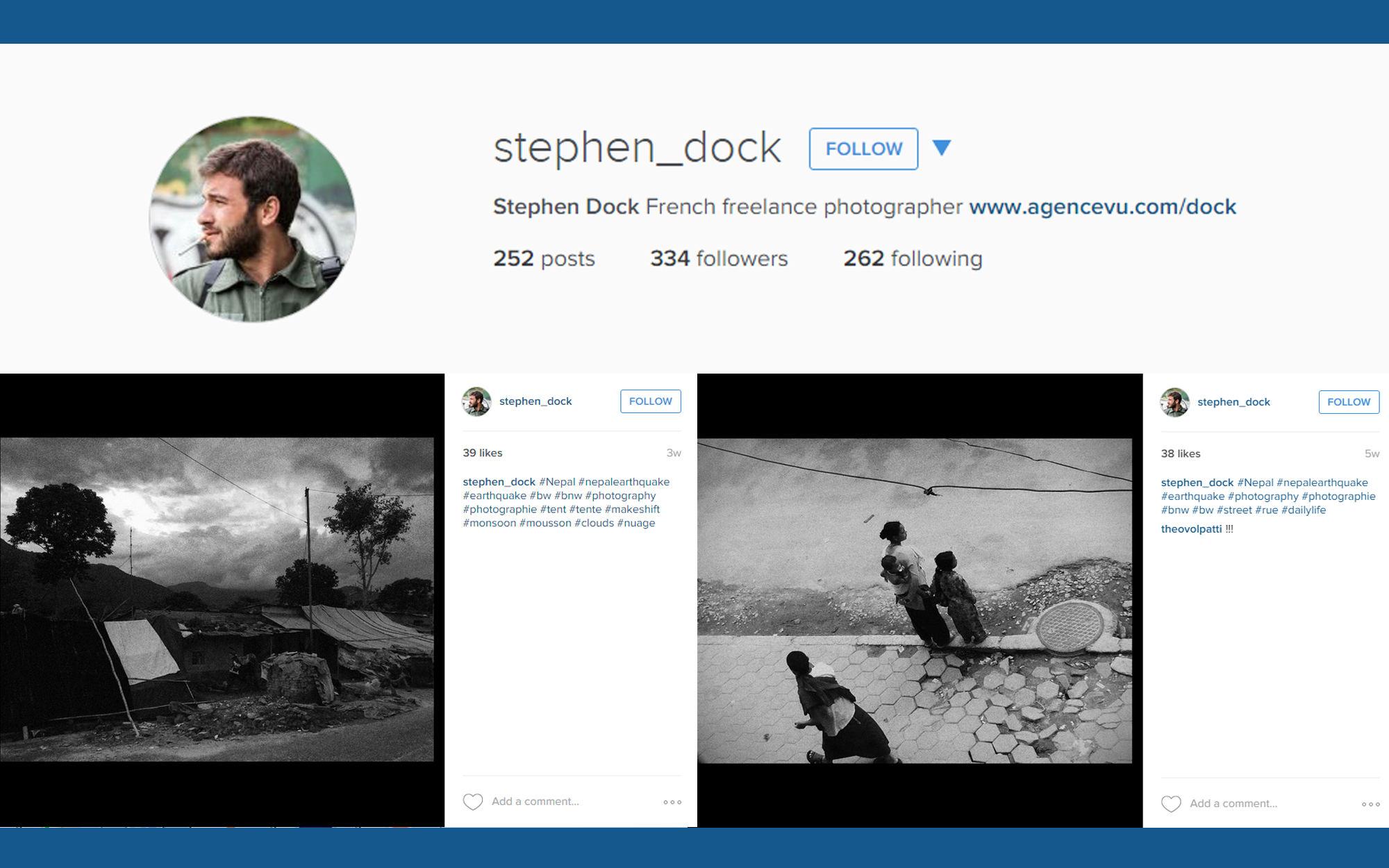Instagram account illustration for Stephen Dock