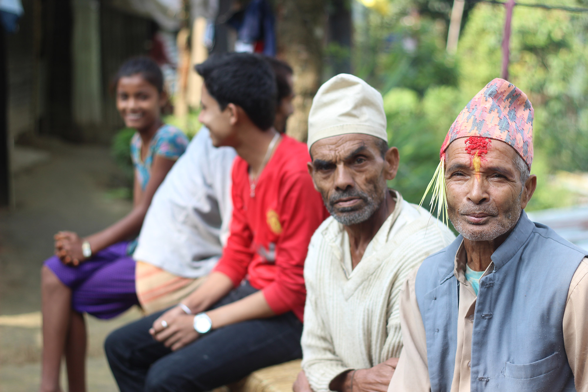 Villagers celebrate Dashain festival in Chimling Beshi, Sindupalchok.