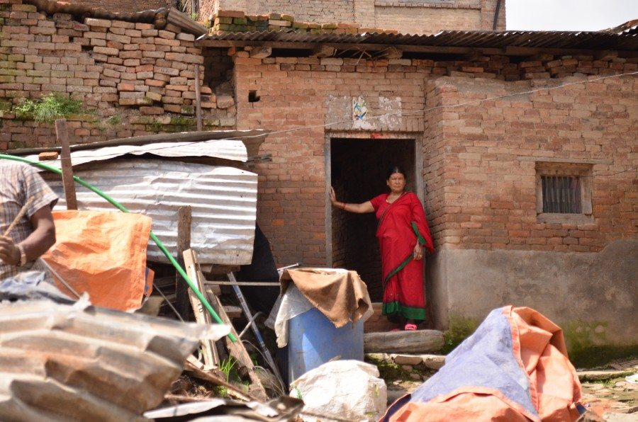 Panchakumari Shrestha had a narrow escape when her house collapsed and she was trapped under rubble. She has trouble sleeping now. When she is awake, she worries about the cost of rebuilding her house.