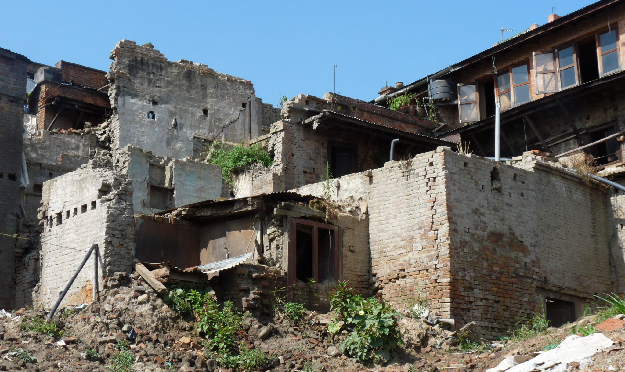 Ruins of people's homes