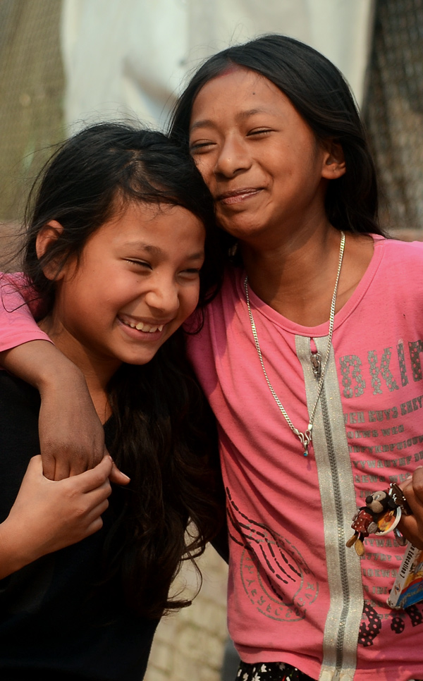'We became best friends because of the earthquake'