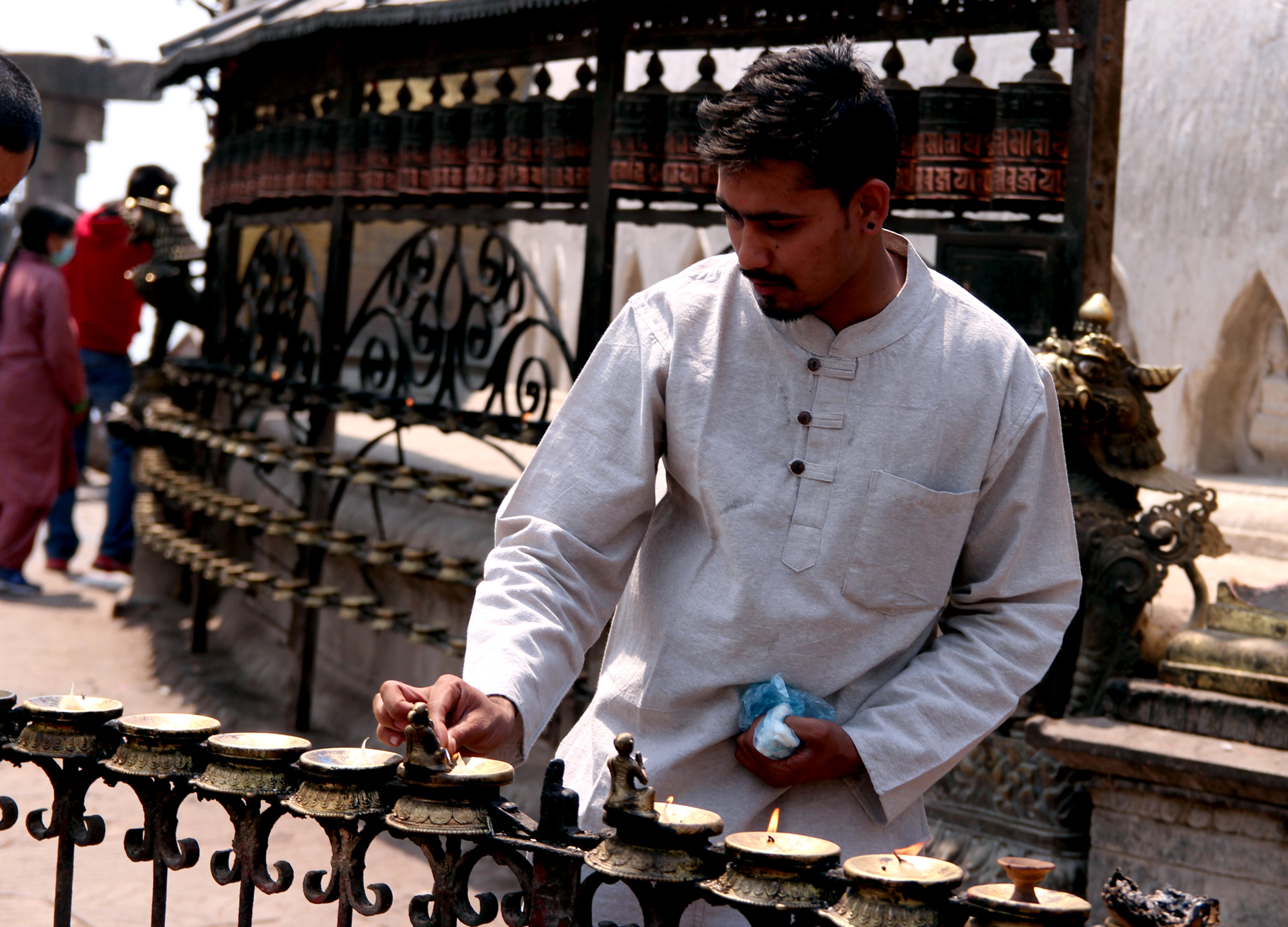 Abinash Adhikari, Swayambhunath, Nepal